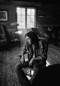 Neil Young at Home with Window, Broken Arrow Ranch, 1971
