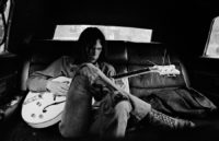 Neil Young in Limo with Gretsch White Falcon, 1970