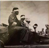 Japanese Prisoners Blindfolded on Deck of Submarine, 1944