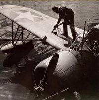 Topping off Gas in Patrol Plane (Aleutians), 1943
