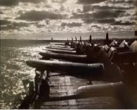 Dive Bombers on Deck of Carrier, 1942