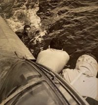 Rescue at Rabaul: Downed Pilot Approaching PBY, 1944