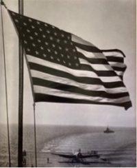 Plane Landing on Carrier after Bombing Morocco, AKA Flag over Carrier Deck, 1942
