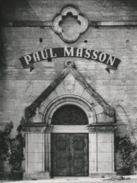 Ansel Adams, Winery Facade, Paul Masson Vineyards, 1959