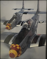 George Hall, Chuck Yaeger in a P-51 Mustang