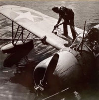Horace Bristol, Topping Off Gas in Patrol Plane, 1943