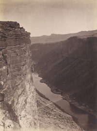 William Bell, Grand Canyon, Colorado River Near Paria Creek Looking East, 1872